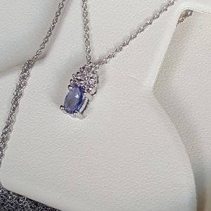 Jewelry - 10k white gold tanzanite ring necklace